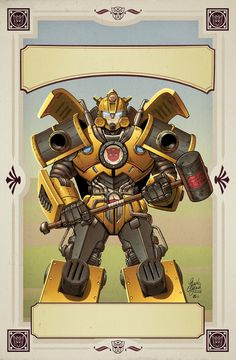 TF Hearts of Steel TPB cover by *khaamar on deviantART - Transformers Bumblebee Autobot
