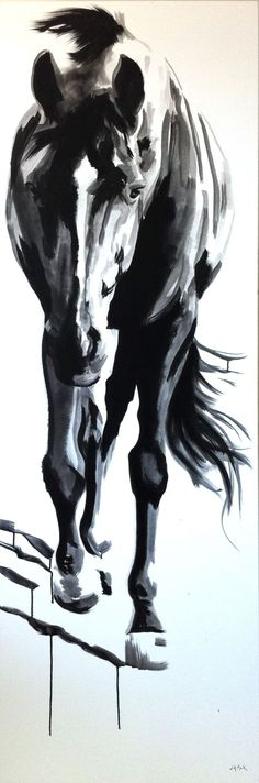 art Shasta By jennifer mack India Ink on Canvas SOLD Horse art Shasta By jennifer mack India Ink on Canvas SOLD Arte Equina, Watercolor Horse, Watercolor Painting, Horse Artwork, Horse Drawings, India Ink, Equine Art, Claude Monet, Western Art