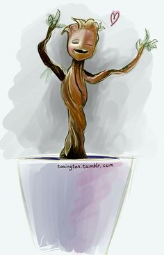 tavington:  My first Cintiq sketch! Here, have a Dancing Baby Groot <3 (yes I saw Guardians of the Galaxy and it was amazeballs. Can't ge...