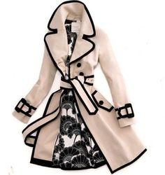 Kate Spade Trench Coat -- contrasting bias tape edging would look so cool on the Sewaholic Robson Trench!