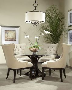 Small Round Dining Room Table Best Of 17 Classy Round Dining Table Design Ideas Round Dining Room Sets, Glass Round Dining Table, Dining Room Table Decor, Elegant Dining Room, Beautiful Dining Rooms, Dining Table Design, Dining Room Furniture, Round Tables, Dinner Room Table