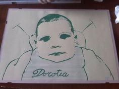 mia cugina dorotea in versione pop art pennarello su carta seconda versione