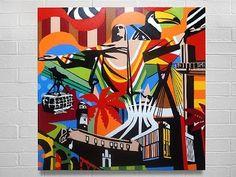 Pontos do Brasil art pop Gil Motta