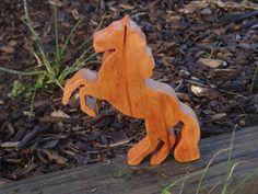 Wooden Horse Stallion / Handmade Waldorf Toy by RockingwoodBuddies