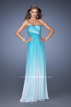 OMG Looks like Elsa's dress  in frozen!!  WANT!!!!  (Note to self buy this for prom next year)