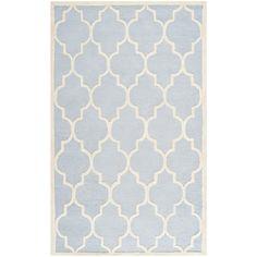 Safavieh Handmade Cambridge Moroccan Light Blue Wool Rug (4' x 6') | Overstock.com