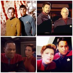 Star Trek - captains and first officers. Sisko is the only captain taller than his first officer.