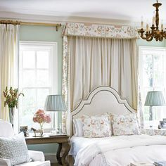 House of turquoise; design by Lori Tippins Interiors Pretty Bedroom, Dream Bedroom, Home Bedroom, Master Bedroom, Bedroom Decor, Bedroom Ideas, Teen Bedroom, Ivory Bedroom, Bedroom Furniture