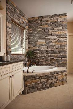 bai decorate cu piatra stone bathroom ideas 7