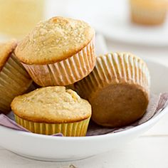 There's a delicious surprise inside these muffins! And they're made with Greek yogurt, chia seeds, and whole wheat flour too.