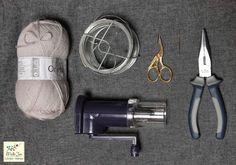 MelleJen tutoriel mot en tricotin : materiel