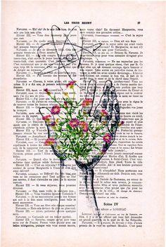 Atom with hand print cimestry laboratory vintage science flower print wall art vintage print on Book Page Art, Book Art, Vintage Books, Vintage Art, Vintage Items, Arte Com Grey's Anatomy, Biology Art, Newspaper Art, Human Anatomy Art