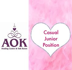 We are looking for a casual junior — I am excited to announce that we have a 🌷 Junior Casual Position Available 🌷  Initially this will be working on Saturdays varying hours. This position could increase in hours during the week as our Salt Room becomes busier. I am looking for someone who will blend in with my beautiful staff