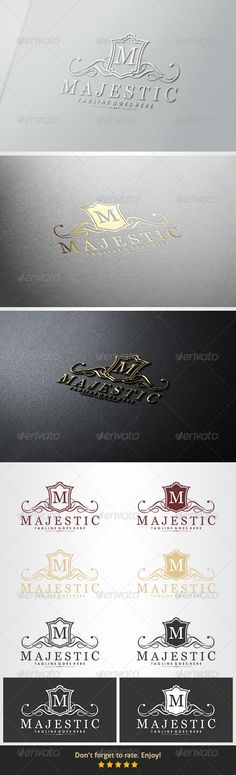 "Majestic Logo #GraphicRiver Majestic Logo Overview: CMYK Color, 100% vector 2 Variations Logo Variations Color Editable & Re-sizable file in these file formats [EPS, AI, CDR] Easy to change color & text Letter ""M"" editable Used Free Font [Link Included Main Download] Note: The mock up file is not included, that's only for preview purpose. Please any help you need Contact me and I am at your service at any time. More of my work: bolpent Portofolio Thanks for watching. If you gonna purchase…"