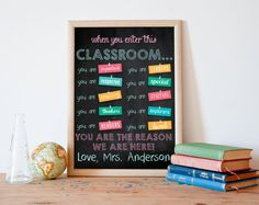Classroom wall decor, classroom sign, classroom poster, gifts for teachers, classroom rules, customized personalized teacher sign, ALL SIZES