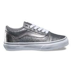 cff667709fb0 Kids Glitter Metallic Old Skool Glitter Shoes