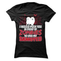 Samoyed T Shirts, Hoodies, Sweatshirts. GET ONE ==> https://www.sunfrog.com/Pets/Samoyed-71105140-Ladies.html?41382