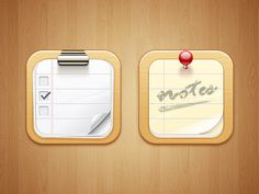 Dribbble - Notes iOS Icon by Paco