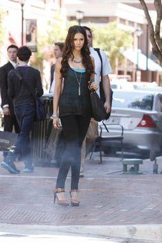 Nina Dobrev as Katherine Pierce on The Vampire Diaries