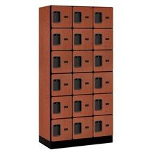 The Salsbury Industries 36000 Series 36 in. W x 76 in. H x 21 in. D Box Style Designer Wood Locker in Cherry is made of industrial grade particleboard. It includes a metal hasp and ideal for health clubs, locker rooms and country clubs. Home Lockers, Metal Lockers, Safe Storage, Locker Storage, Employee Lockers, School Lockers, Concealed Hinges, Storage Places