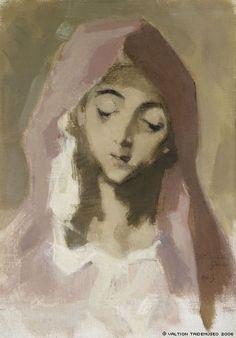 Helene Schjerfbeck「Madonna de la Charité, after El Greco(慈悲の聖母、エル・グレコによる)」(1941)