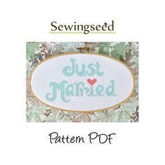 Just Married Wedding Cross Stitch Pattern. $4,00, via Etsy.