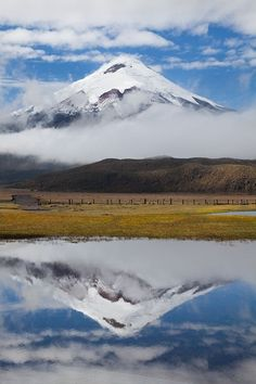 Cotopaxi reflections - Cotopaxi National Park, Ecuador by Bart Heirweg Best Places To Travel, Places To Visit, Peru Ecuador, Andes Mountains, Equador, Galapagos Islands, South America Travel, Adventure Tours, Beautiful Landscapes