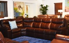 "Trick of the trade: Want to make your small living room feel bigger? By adding a ""short-sided"" sectional such as this Palliser Providence featured in the photo below, you can dramatically change the feel of your living room to be more inviting and open. Large sectionals help anchor your room while giving ample seating making them ideal for rooms that lack depth."
