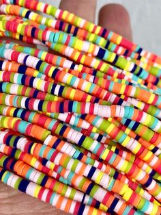 4mm 6mm vinyl Heishi beads Sage dotted African vinyl beads polymer clay beads choker beads 350-400 beads per strand