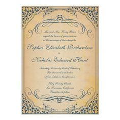 Vintage Frame -wedding invitation, too bad it only comes in blue!!!