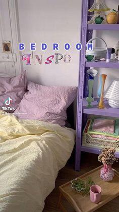 Pastel Room Decor, Indie Room Decor, Cute Bedroom Decor, Room Design Bedroom, Room Ideas Bedroom, Aesthetic Room Decor, Pastel Bedroom, Bedroom Inspo, Study Room Decor