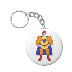 Super Hero Character Basic Round Button Keychain