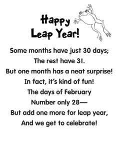 Leap Year Froggy Puppet And Poem Leap Year Rhyming Words Leap Year Birthday