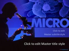Free Microscope PPT template makes your medical findings original through a relevant background and professional looking slide design for a presentation. Powerpoint Template Free, Microsoft Powerpoint, Templates Free, Background Ppt, Chemical Equation, Presentation Backgrounds, Project Presentation, Work Tools, Slide Design
