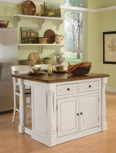 shea great size and shape for an island in your kitchen would be better - Kitchen Island Ideas For Small Kitchens