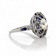 "Antique art deco diamond sapphire plat e ring ""I wouldn't want any gift, let alone one that is supposed to symbolize our relationship, from a person who felt obligated or bitter about doing so."" ... I COULD NOT HAVE SAID IT ANY BETTER."