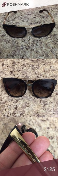 Dolce and Gabbana 54mm retro sunglasses Dark tortoise color. Heavy frame/solid sunglasses. Small scratch, but not noticeable. Good condition Dolce & Gabbana Accessories Sunglasses