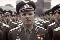 Yuri Gagarin Soviet cosmonaut and first man in space. Gagarin made the first manned space flight on 12 April Warsaw Pact, Russian Men, Space Race, Army Love, Space And Astronomy, Imperial Russia, First Humans, Cool Countries, Special People