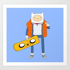 Marty McFinn & Jake the Hoverboard Art Print by Brian Campbell - $18.00