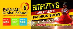 Present a Backdrop & cup design  for smarty children fashion show, organised by www.pgs.edu.in