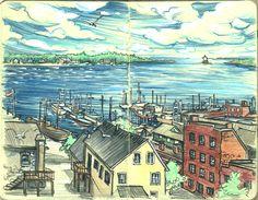 New Bedford, Massachusetts by Susan Rudat