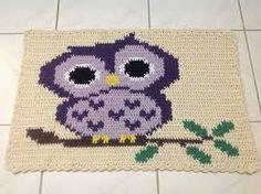 Resultado de imagem para tapete croche coruja dorminhoca