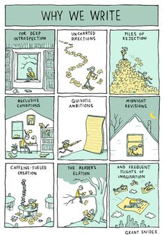 Why We Write - by Grant Snider