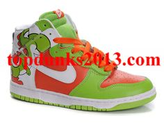 lowest price 3fcb8 ead98 Low Price Cartoon High Top Nike Dunk Yoshi Custom Brass Monki Green  Patterns Up To 52