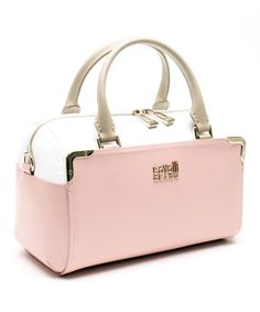Look what I found on #zulily! Cavalli Class Pink & Cream Maggie Small Bowling Bag Tote by Cavalli Class #zulilyfinds