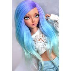 #ombrehair #dollstagram #doll #dollsofinstagram #bjd #abjd #balljointeddoll #fairylandbjd #minifee #minifeeceline #alpacawig #bjdwig #minthair Custom Monster High Dolls, Custom Dolls, Beautiful Barbie Dolls, Pretty Dolls, Bratz Doll, Ooak Dolls, Dolly Fashion, Fashion Dolls, Realistic Dolls