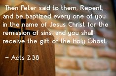 Baptism Bible Verse Acts 2.38