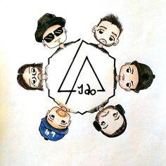 Linkin Park ❤  art by _kariliah_ (via Instagram)