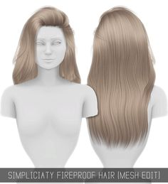 FIREPROOF HAIR (MESH EDIT) Simpliciaty