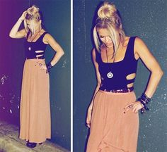 Long Skirts...if I looked this cute I'd totally wear this!